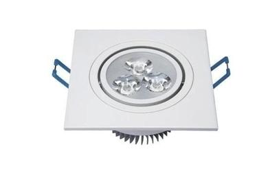 Spot LED 3w Dicróica Quadrado Base Branca