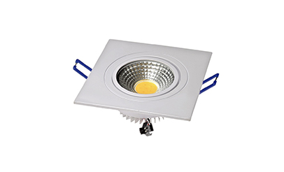 Spot LED COB 3W Quadrado Embutir Direcionável Branco Quente