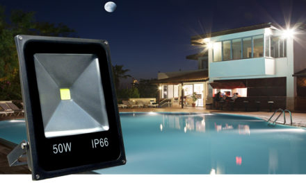 Refletor Holofote LED 50w Branco Frio Preto