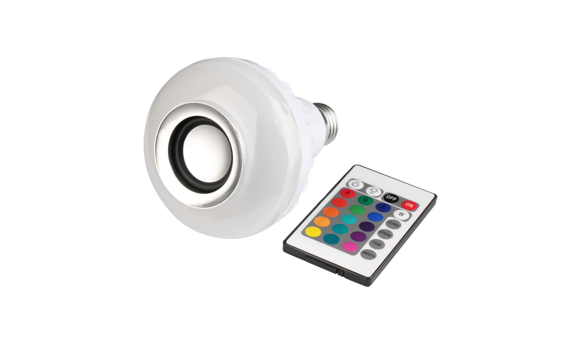 Lampada led rgb com controle bluetooth musica iluminim confira